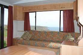 Modern, comfortable and spacious caravans at Seaview