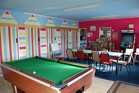 Games room at Seaview Holiday Park